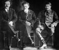 В. М. Молотов, М. И. Калинин и И. В. Сталин. XVI съезд ВКП(б) 1929 г.