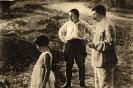 И. В. Сталин с дочерью Светланой и С. М. Киров на отдыхе в Сочи
