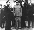 И. Сталин, В. Молотов и А. Гарриман на Ялтинской конференции. 1945г.