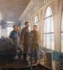 Сталин и Киров на Волховстрое