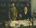 Ленин и Сталин за разработкой плана ГОЭЛРО