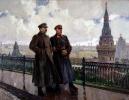 И. В. Сталин и К. Е. Ворошилов в Кремле